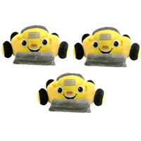 Little Tikes Digger Dump Truck Plush Car Toddler Lounger Seat, Yellow (3 Pack)