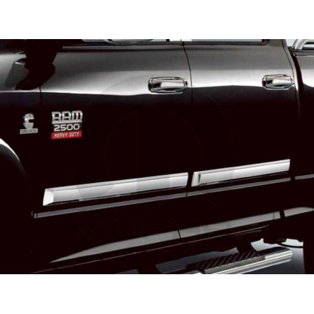 Quad Cab Chrome Door - Mopar 82213504 Chrome Door Moldings Dodge Ram 1500 Quad Cab