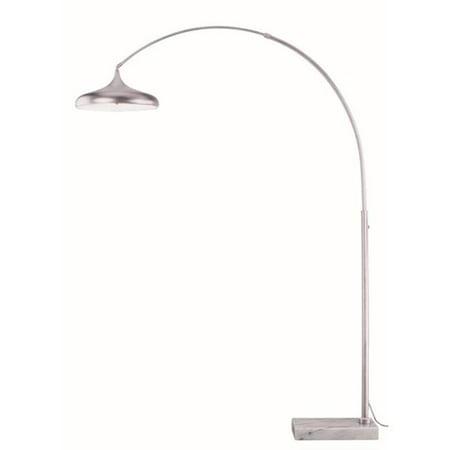 Vaxcel International L0005 Bacio Instalux LED Arc Lamp, Satin (Floor Length Train Satin)