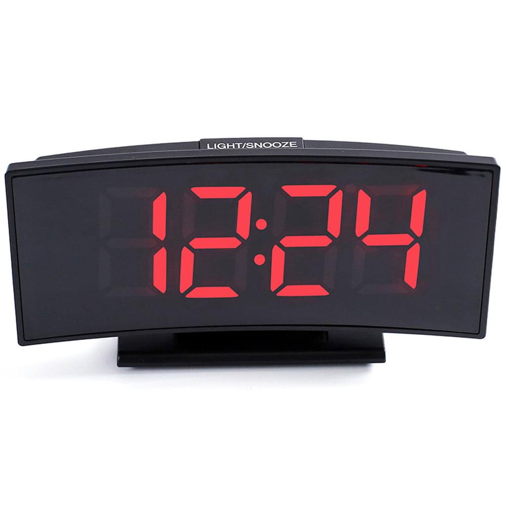 Multi functional Digital Alarm Clock //W Snooze 12//24 HR Large Silver LED Display
