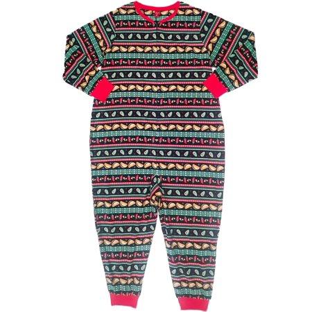 Womens Avocado Taco Chili Pepper Fleece Union Suit Christmas Sleeper Pajama (Chili Pepper Underwear)