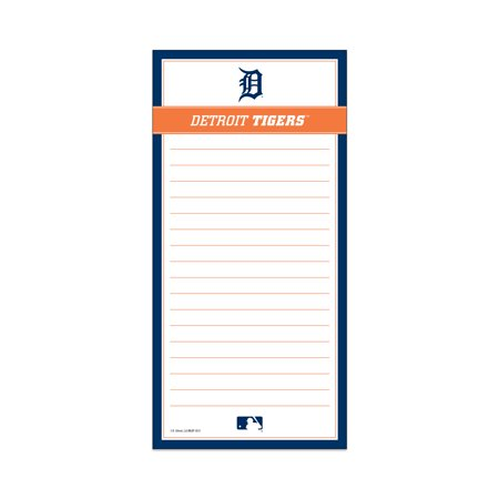 DETROIT TIGERS CLASSIC MAGNETIC LIST PAD Show your team spirit with this Detroit Tigers Magnetic List Pad. This list pad contains 75 sheets and is perfect to jot down quick notes. Its magnetic packing allows it to be displayed in a variety of places!