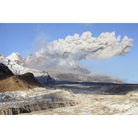 Volcano Lava Dome (October 22 2013 - Eruption of ash cloud from lava dome of Shiveluch Volcano Kamchatka Russia Poster)