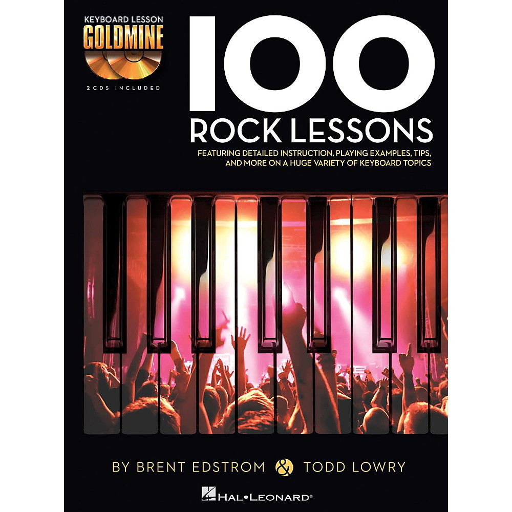 Hal Leonard 100 Rock Lessons - Keyboard Lesson Goldmine Series Book/2-CD  Pack - Walmart.com