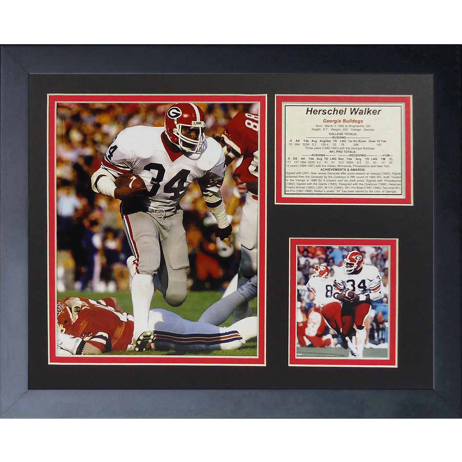 "Legends Never Die ""Herschel Walker Bulldogs"" Framed Photo Collage, 11"" x 14"""