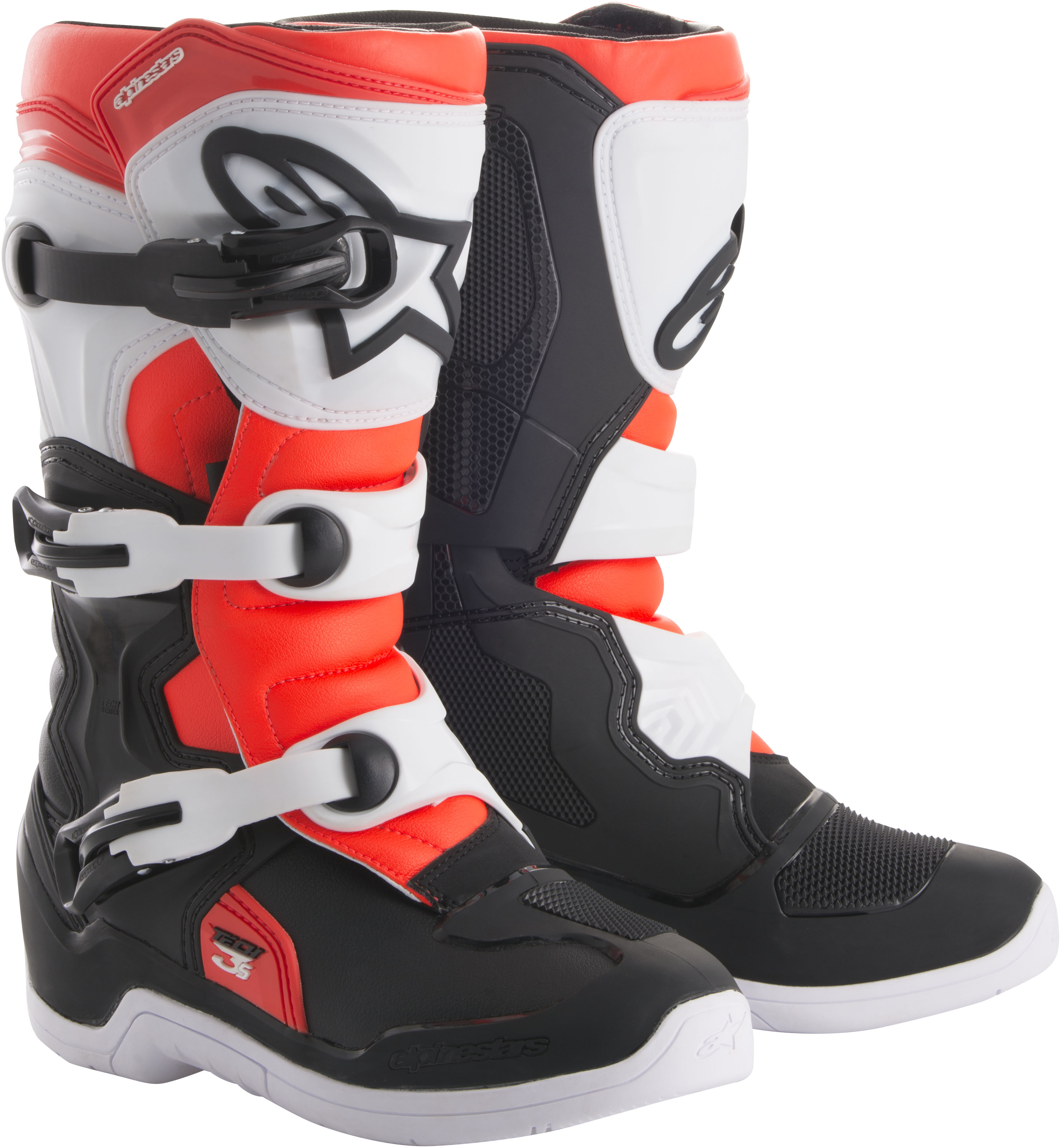 ALPINESTARS 2014018-1231-5 TECH 3S BOOTS BLACK/WHITE/RED SZ 5