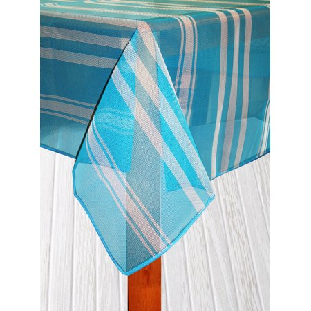 Bistro Stripe Indoor/Outdoor Table Cloth, Blue