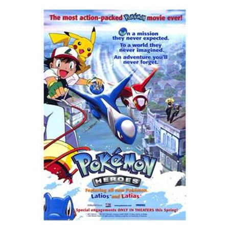 Pokemon Heroes Movie Poster (11 x 17) - Walmart.com