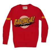 Big Bang Theory Bazinga Adult Knit Pullover Sweater