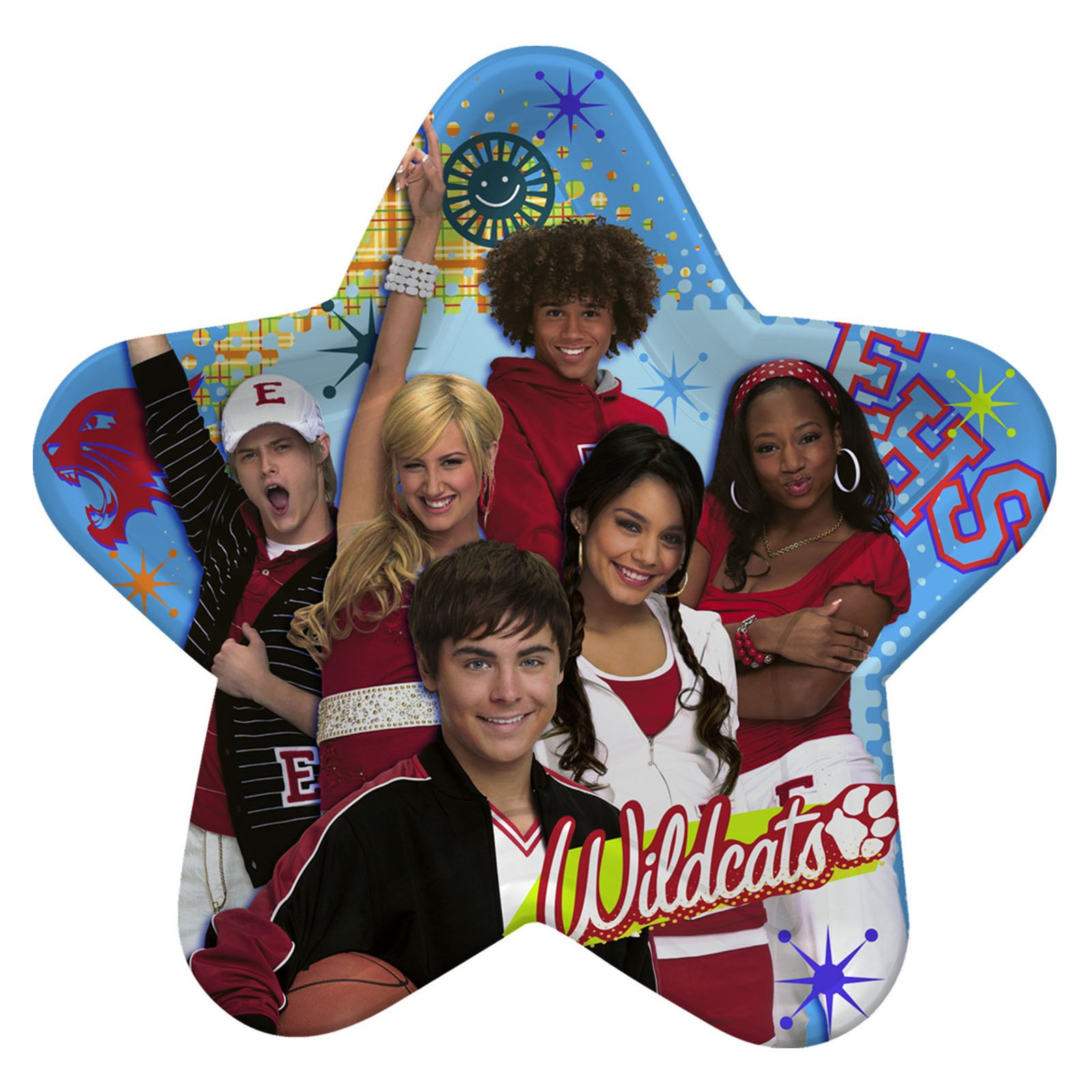 High School Musical 2 Large Star Shaped Paper Plates (8ct)  sc 1 st  Walmart & High School Musical 2 Large Star Shaped Paper Plates (8ct) - Walmart.com