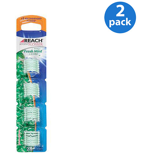 Reach  W/Fresh Mint Crystals Access Flosser Refill 28 ct (Pack of 2)