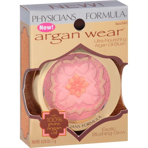 Physicians Formula Argan Wear Ultra-Nourishing Argan Oil Blush, 6441 Natural, 0.24 oz
