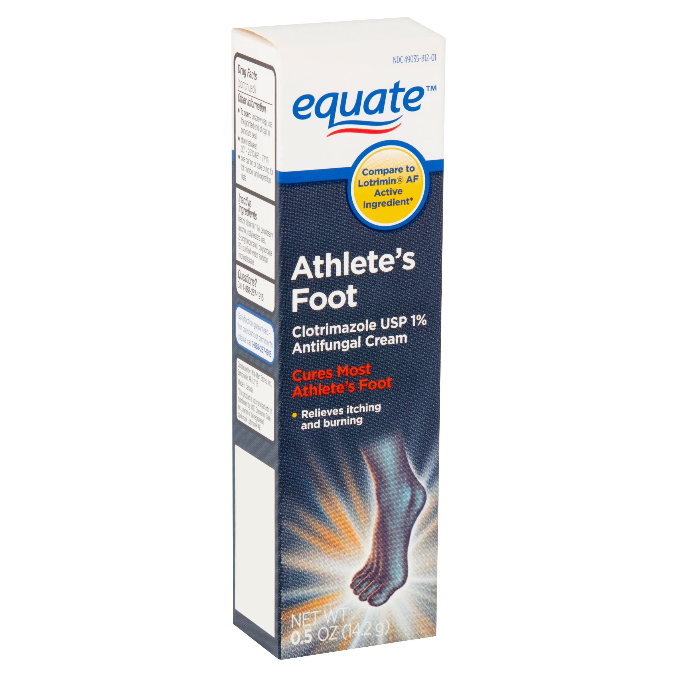Equate Athlete's Foot Antifungal Cream, 0.5 oz