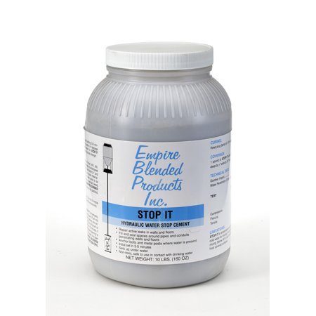 Stop-It Hydraulic Water stop cement 10 lb Pail