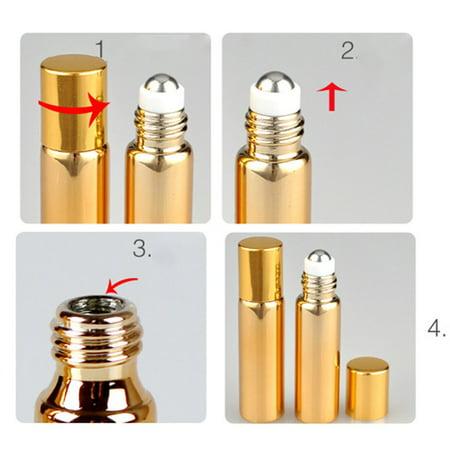 Mini Electroplating Uv Finishing Balls Oils Cosmetics Light-proof Sub-bottles - image 3 of 5