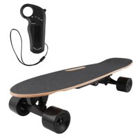 Hifashion 28inch Remote Electric Skateboard Longboard Bluetooth with Remote Controller & Maple Deck electric hoverboad