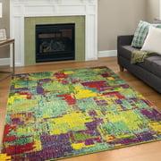 A2Z Rio 5677 Modern Bold Bohemian lustrous Electric Runner Hallway Area Rug Carpet Tapis