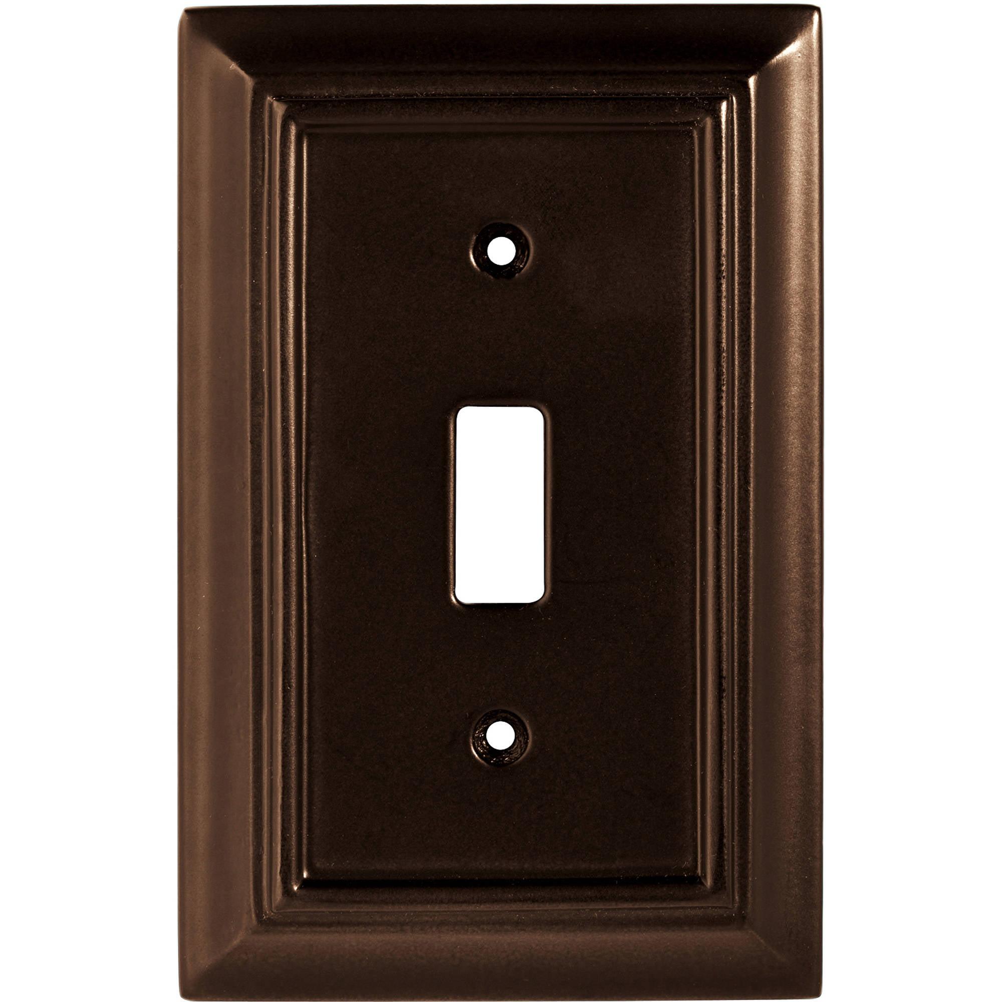 Brainerd Wood Architectural Single Switch Wall Plate, Espresso