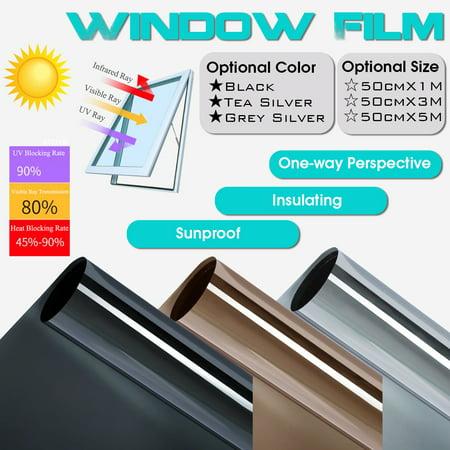 "❤️ 20""X3.3FT Solar Reflective Window Film One Way Privacy Mirror Tint Film"