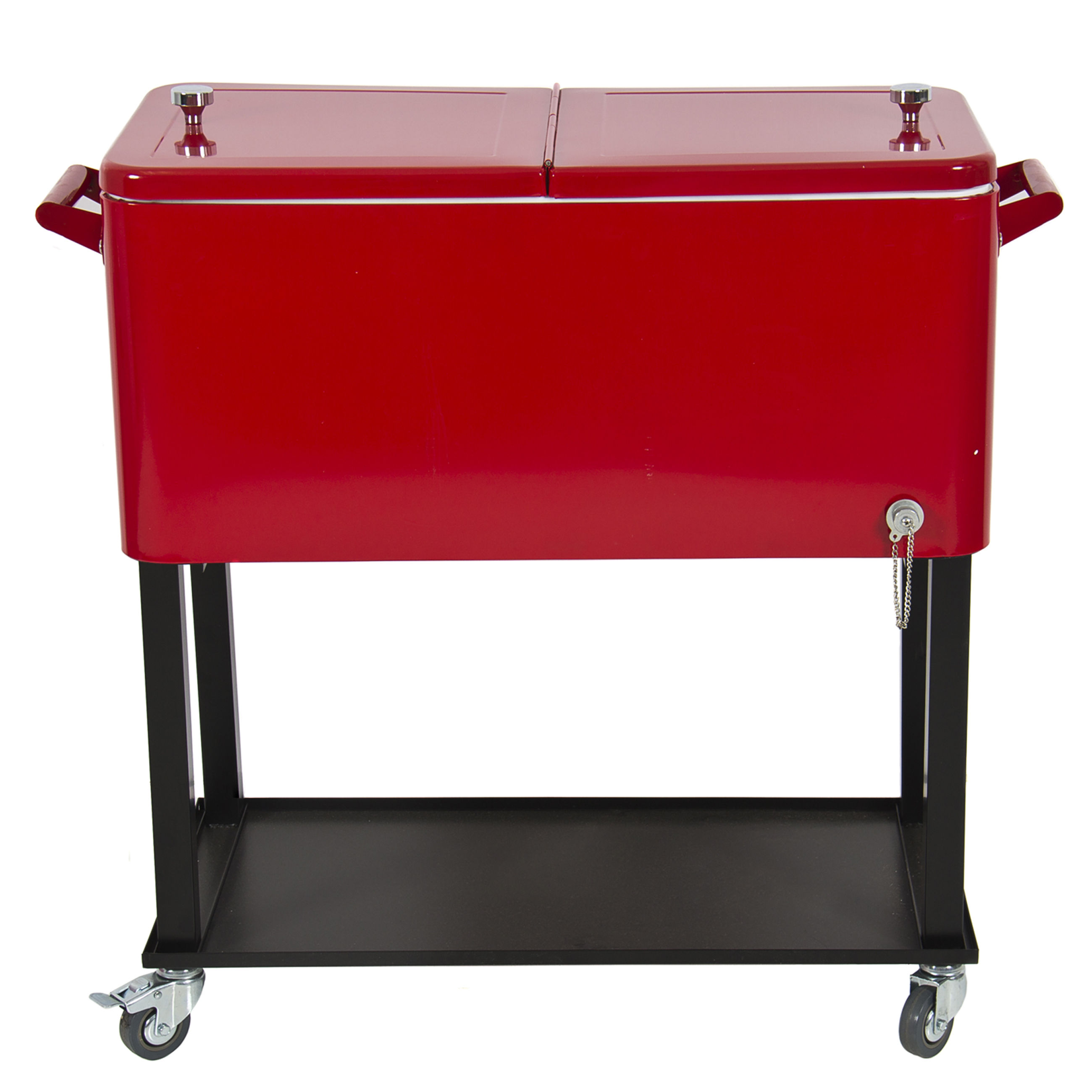 Great Patio Deck Cooler Rolling Outdoor 80 Quart Solid Steel Construction Home  Party   Walmart.com