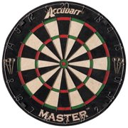 Accudart Master Champion-Style Staple-Free Bristle Dartboard Set Includes Six Brass Darts and Removable Number Ring