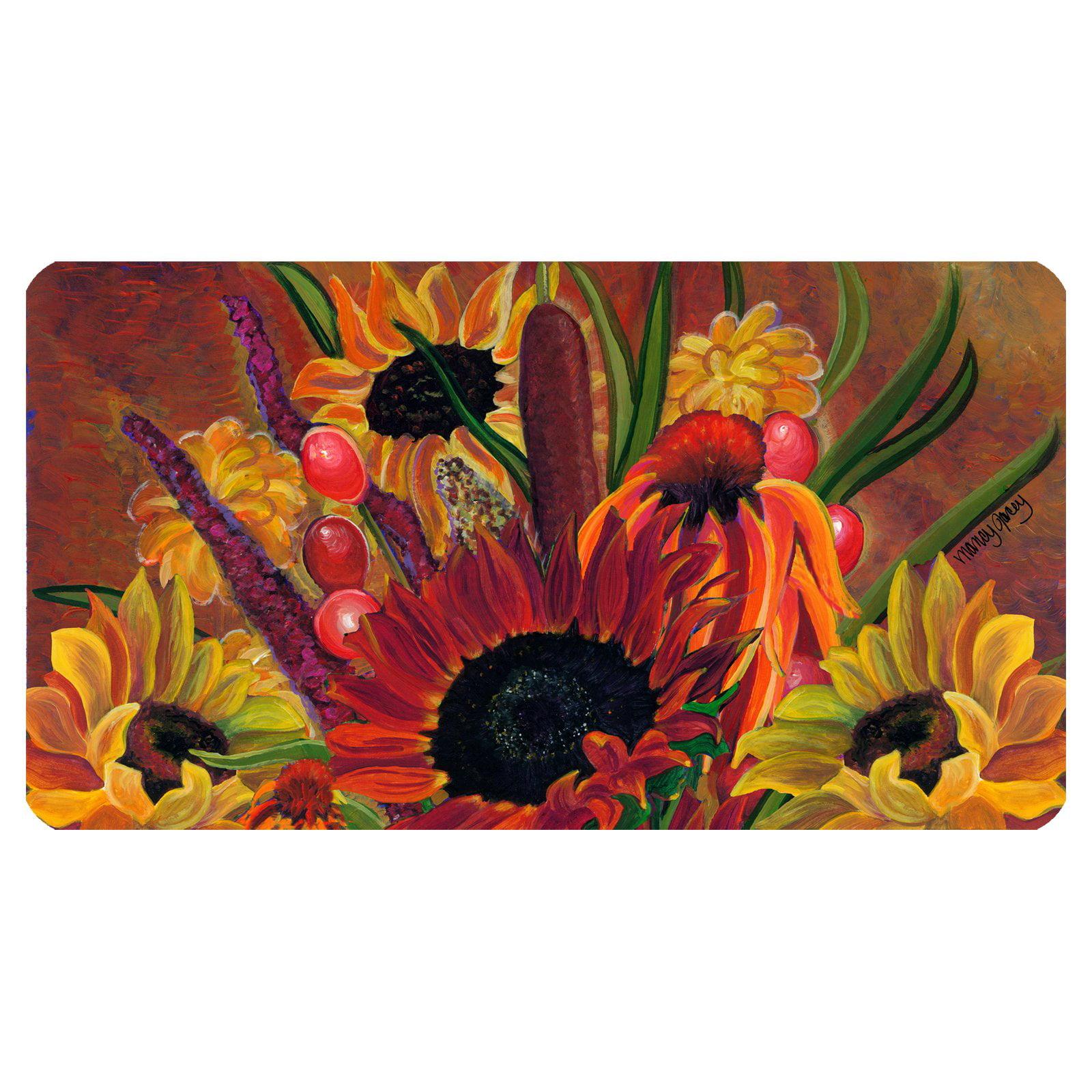 Toland Home Garden Cattail Bouquet Doormat - Polyester / Rubber