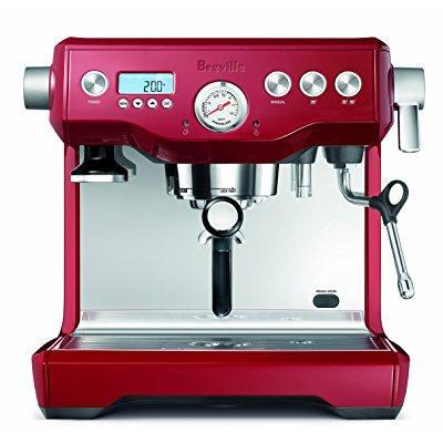 breville bes920cbxl dual boiler espresso machine, cranberry
