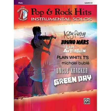 Alfred's Instrumental Play-Along: Pop & Rock Hits Instrumental Solos, Flute: Level 2-3