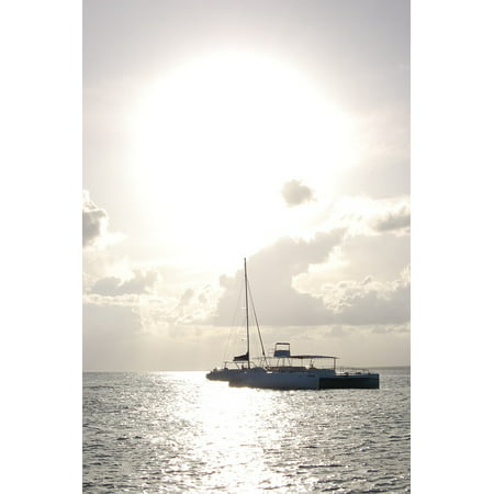 Canvas Print Beach Catamaran Seashore Seaside Sailing Boat Stretched Canvas 10 x