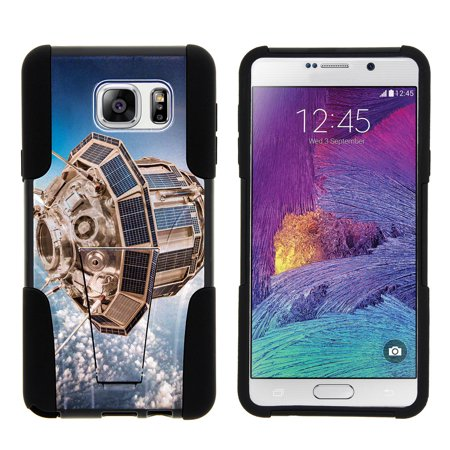 Samsung Galaxy Note 5 N920 STRIKE IMPACT Dual Layer Shock Absorbing Case with Built-In Kickstand - Rocketship in (Samsung Customer Service Phone Number In Bangladesh)