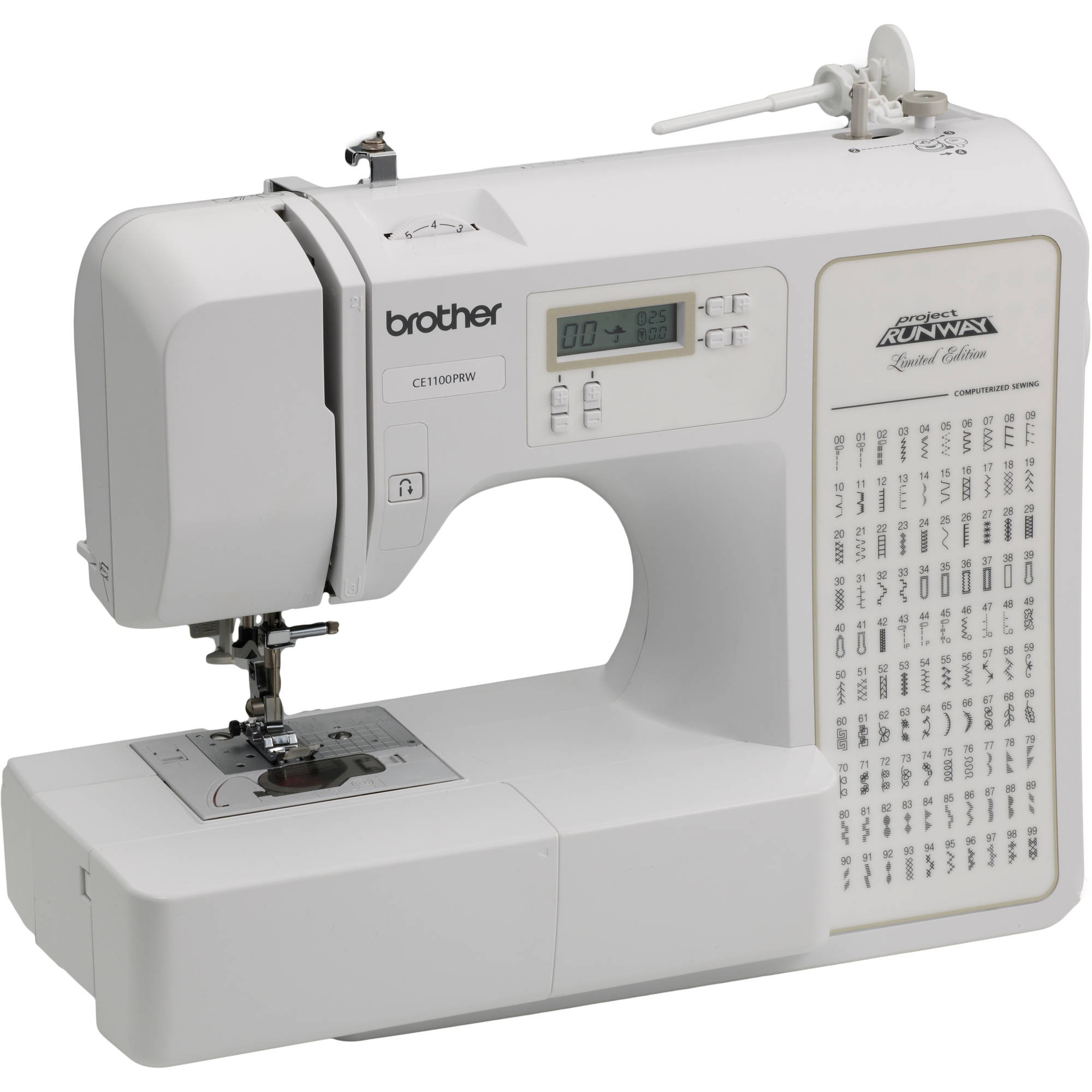 Brother 100-Stitch Project Runway Computerized Sewing Machine, CE1100PRW
