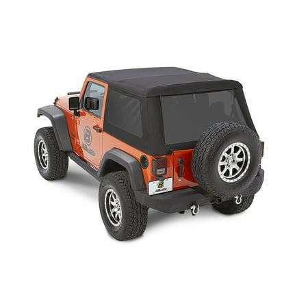 Nx Jeep Soft Top - Bestop Trektop NX Glide Soft Top 07-17 Jeep Wrangler JK 2 Door Black Diamond