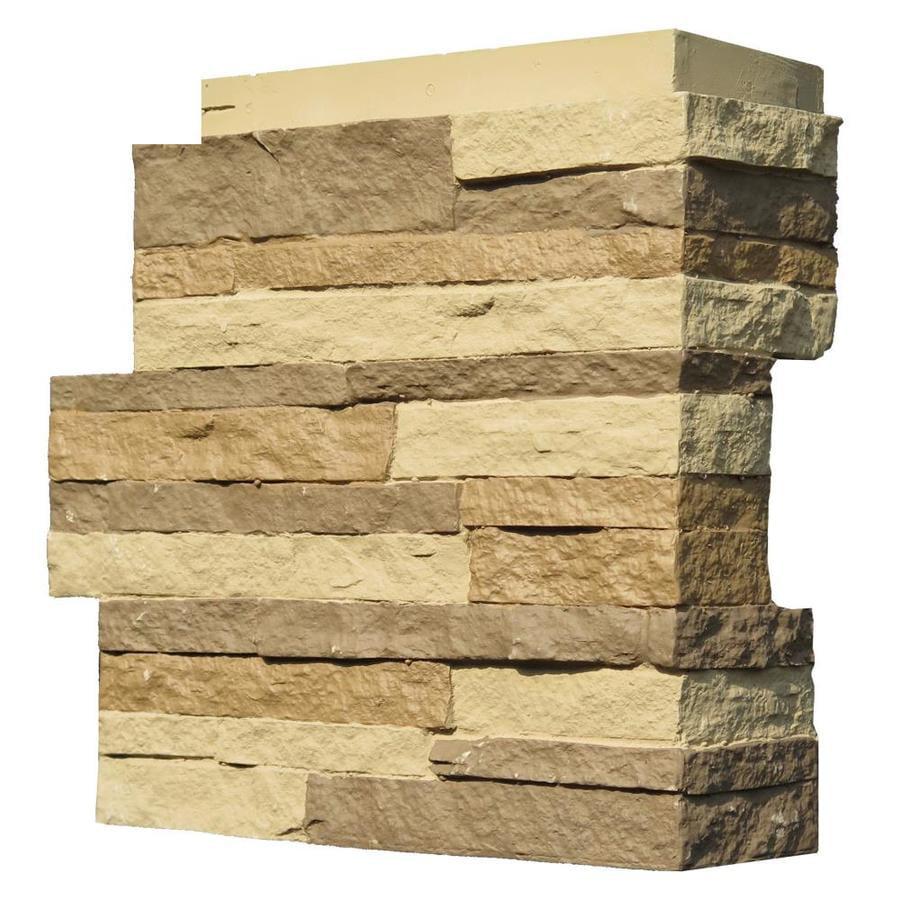 NextStone™ Faux Polyurethane Stone Outside Corner - Stacked Stone Carolina Cocoa