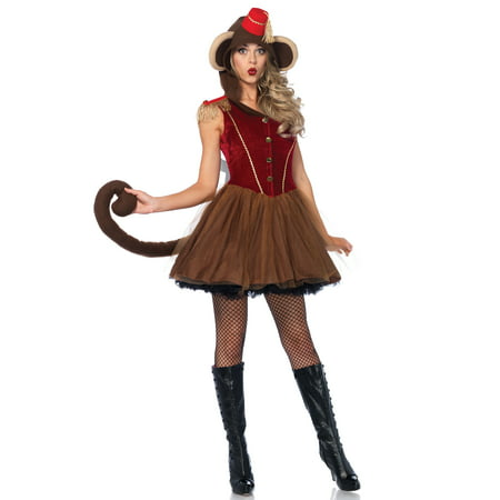 Leg Avenue Women's Wind Up Monkey Circus Costume](Circus Ringmaster Costumes)