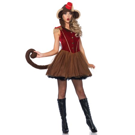 Leg Avenue Women's Wind Up Monkey Circus Costume](Circus Theme Costume)