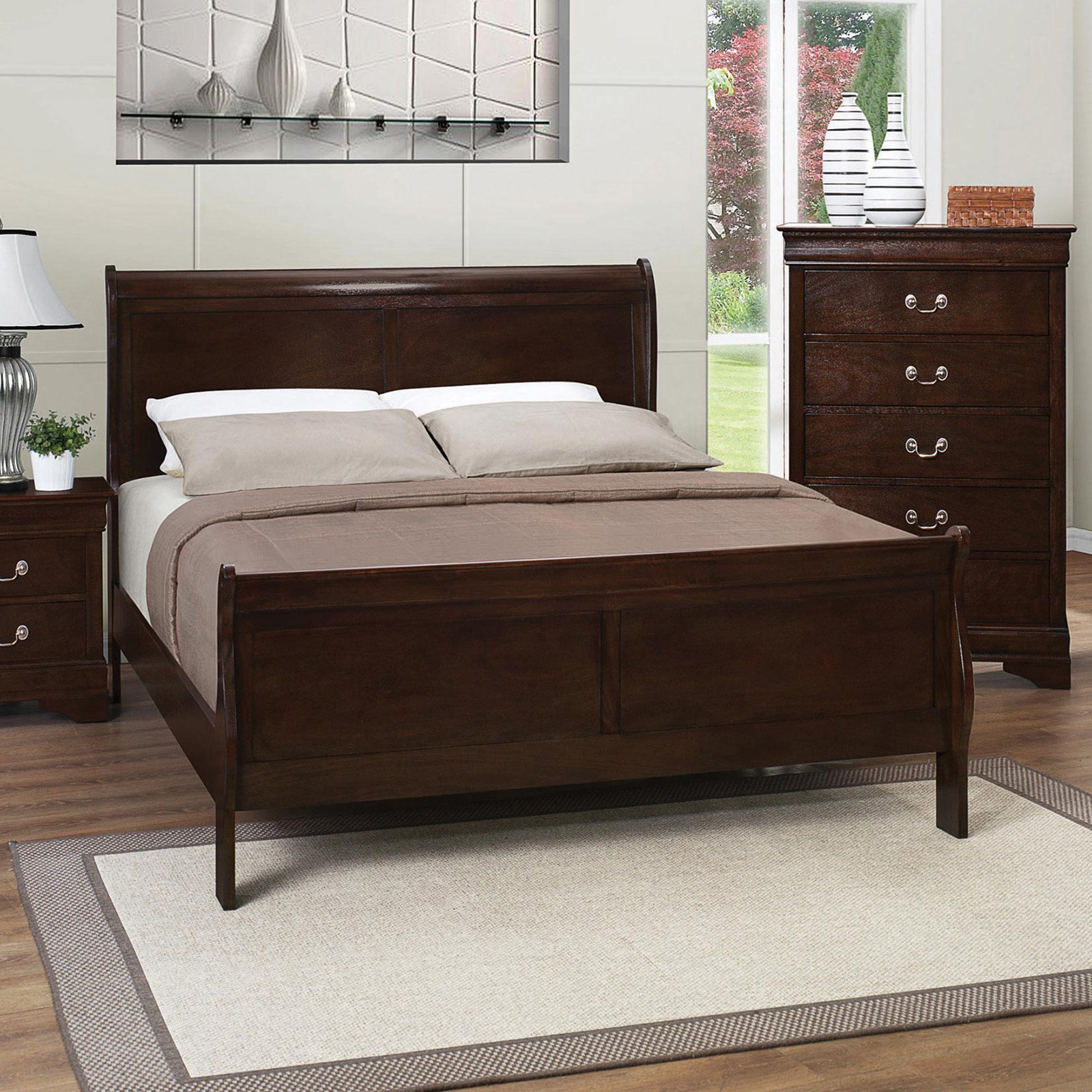 Coaster Furniture Louis Philippe I Wood Sleigh Bed by
