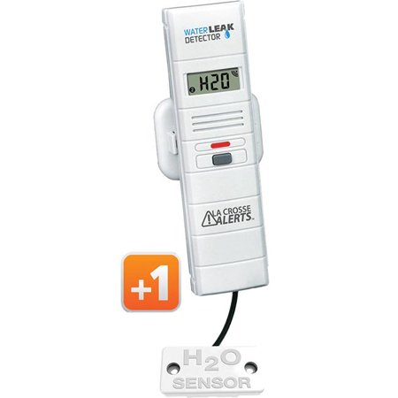 La Crosse Technology 926-25005-GB Remote Water Leak Detector with Early Warning Alerts Early Warning Sensor Pad