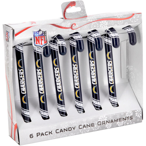 Candy Cane Ornament Set, San Diego Chargers