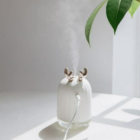 Mancro Portable Air Humidifier Creative Mini Elk USB Air Purifier Freshener with LED Night Light Aromatherapy Diffuser Mist Maker - Mist Maker Halloween