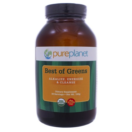 Pure Planet Best of Greens Organic Unflavored 150g (Best Weight Gainer In India)