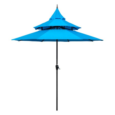 48 Bat Umbrella (Abble 9 ft. Steel Pagoda Patio Umbrella )