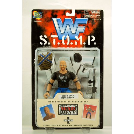 WWF S.T.O.M.P. War Zone Series 1 Figure - Stone Cold Steve Austin, WWF S.T.O.M.P. Series By Jakks Pacific From USA
