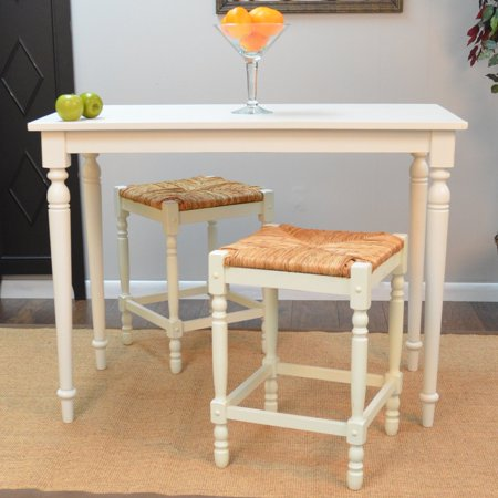 Long Bar Table - Carolina Hawthorne Bar Table - Antique White