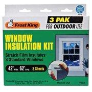 "FROST KING Window Kit,Outdoor,42"" W x 62"" L V93/3"