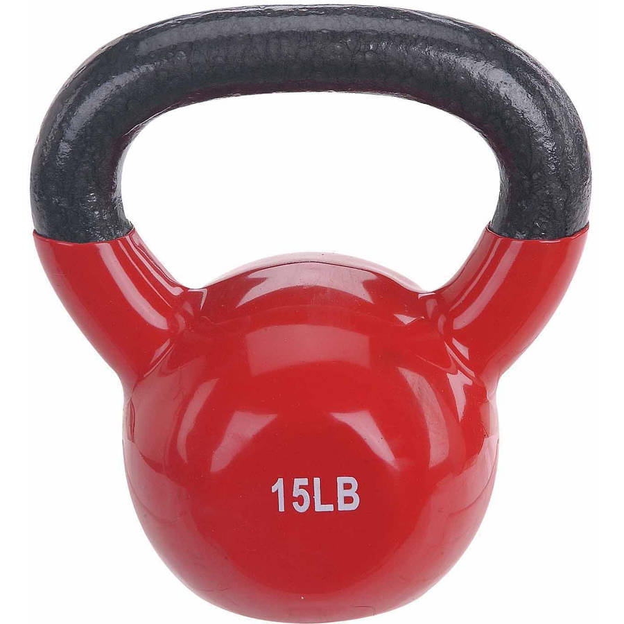 Sunny Health and Fitness Vinyl-Coated Kettle Bell