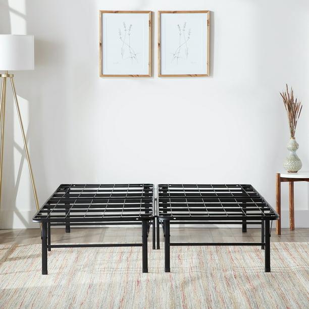 Rest Haven 14 Steel Platform Bed Frame, Black Metal Queen Platform Bed