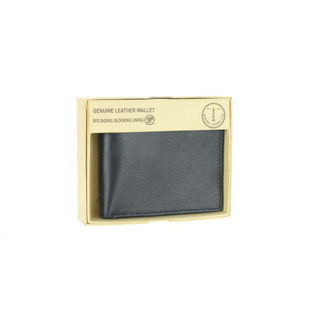 Men's RFID Signal Blocking Genuine Leather Fixed Passcase with Gift Box - Genuine Leather Headwrap