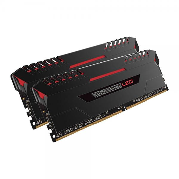 Corsair Vengeance 16GB (2x8GB) DDR4 2666 (PC4-21300) C16 for DDR4 Systems, Red LED (CMU16GX4M2A2666C16R)