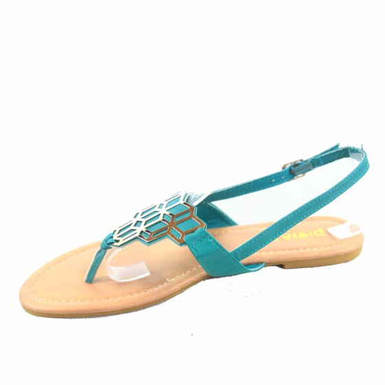 3f323816de25 Diviana - Jalila-23 Women s Beach Slip On Gold Plated Slingback T ...