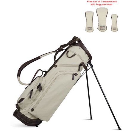 Sun Mountain 2018 Canvas / Leather Stand Bag -Matching Head Covers